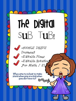 Sub Plans! DIGITAL (Google Drive and Power Point versions)