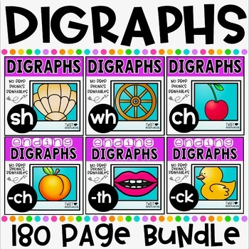 Digraphs No Prep Printables Bundle