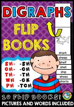 DIGRAPHS FLIP BOOKS: BEGINNING DIGRAPHS + ENDING DIGRAPHS
