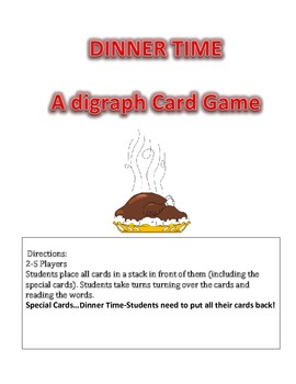 DINNER TIME A Digraph Card Game