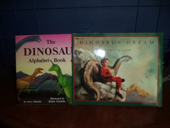 DINOSAUR ALPHABET BOOK  DINOSAUR DREAM   (SET OF 2)