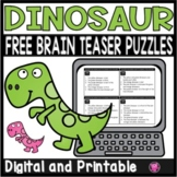 DINOSAUR THEME LOGICAL REASONING MINI ACTIVITY