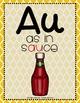 Word Work - AU-AW Diphthong Sorting Center {ABC Order, Anc