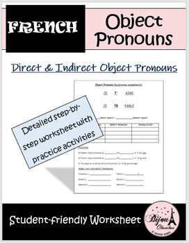 Lesson & Activity Packet: French Direct & Indirect Object