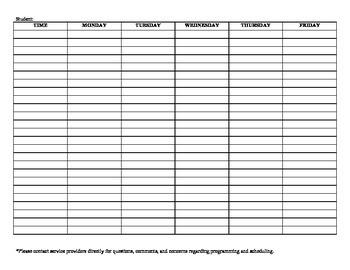 DIS Service Schedule Organizer