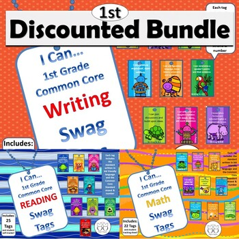 DISCOUNTED Bundle of all 1st Grade Common Core Brag Tags