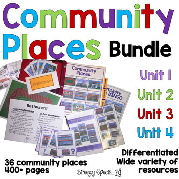 DISCOUNTED Community Places GROWING BUNDLE for Special Education