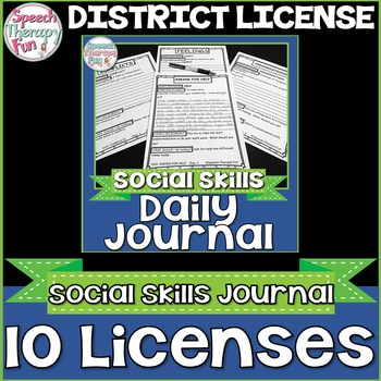DISTRICT LICENSE FOR 10 Educators: Daily Social Skills Journal