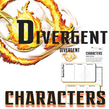 DIVERGENT Characters Organizer (by Veronica Roth)
