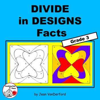 DIVISION FACTS | Geometric Designs to Color | REVIEW Gr 3