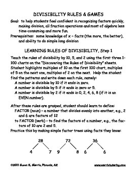 DIVISIBILITY - Learning and Games