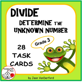 DIVISION | Unknown Numbers | Task Cards | REVIEW | Math CO