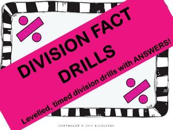 DIVISION FACT DRILLS