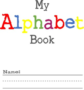 DIY Alphabet Book - Letter Pages - Writing Practice - Phon