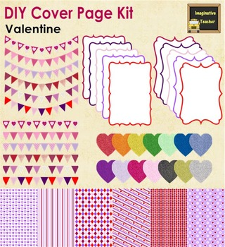 DIY Cover Page Kit - Valentine's Day