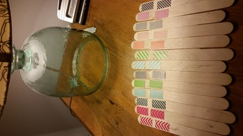 DIY Grouping Craft Sticks using Washi Tape (Craft)