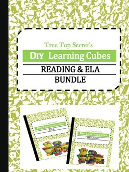 DIY Learning Cubes Reading and ELA Bundle
