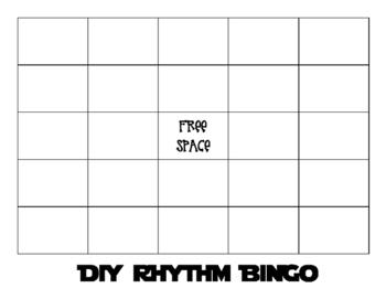 DIY Rhythm Bingo Board