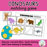 Dinosaur Match Up Game