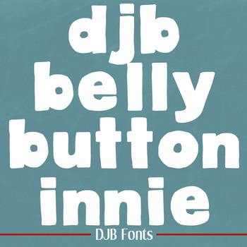 DJB Belly Button Innie Font - Personal Use
