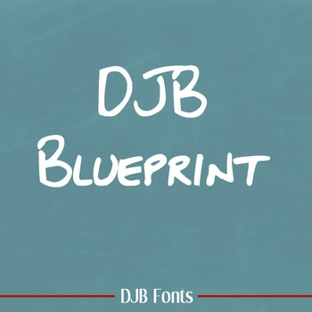 DJB Blueprint Font - Personal Use