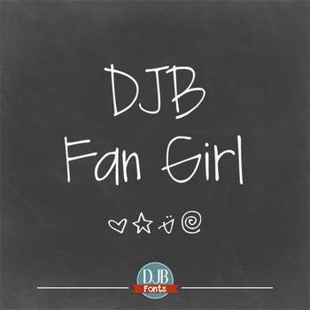 DJB Fan Girl Font - Personal Use