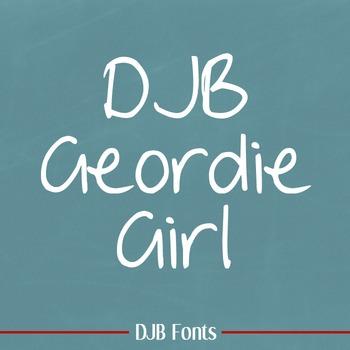 DJB Geordie Girl Font: Personal Use