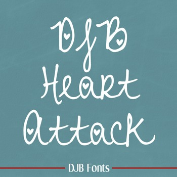DJB Heart Attack Fonts: Personal Use