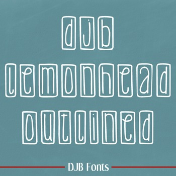 DJB Lemon Head Outlined Font - Personal Use