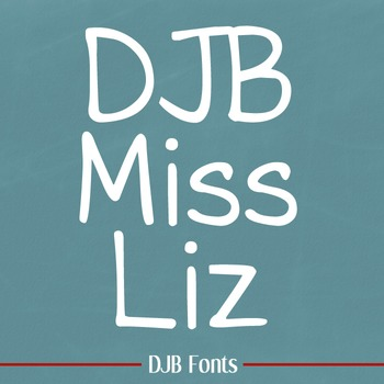 DJB Miss Liz Font: Personal Use