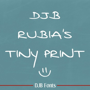DJB Rubia's Tiny Print - Personal Use