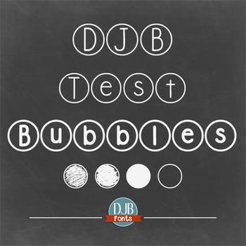 DJB Standardized Test Bubbles Fonts - Personal Use