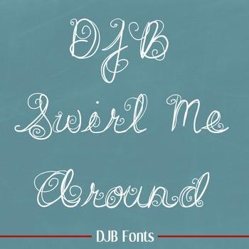 DJB Swirl Me Around Font - Personal Use