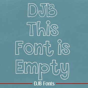 DJB This Font is Empty - Personal Use