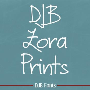 DJB Zora Prints Font - Personal Use