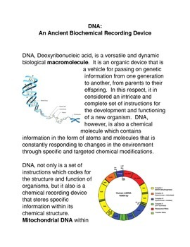DNA: An Ancient Recording Device Activity
