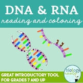 DNA RNA Reading and Coloring Activity
