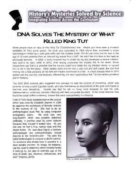 DNA Solves the Mystery of What Killed King Tut