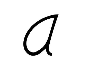 D'Nealian Cursive Word Wall Alphabet