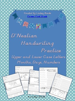 D'Nealian Handwriting Practice Pack {Uppercase and Lowerca