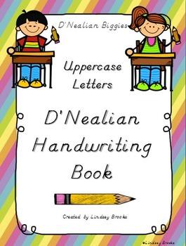 D'Nealian Handwriting Uppercase Letters Practice Book