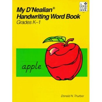 D'Nealian Handwriting Word Book Grade K-1