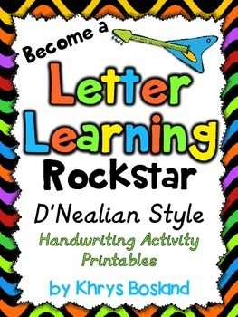 D'Nealian Style Handwriting Activity Printables {No Prep Work}