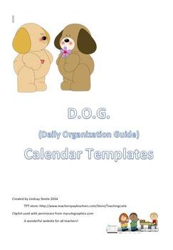 D.O.G. (Daily Organization Guide) Binder Calendars