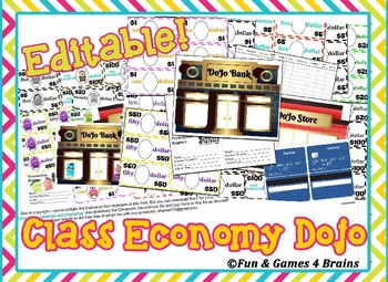 Editable Class Dollars, Monster Money, Class Economy, Make