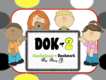 DOK2 Nonfictional Bookmarks w/Starter Questions for Critic