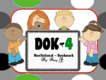 DOK4 Nonfictional Bookmarks w/Starter Questions for Critic