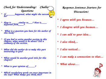 DOK Levels 3 and 4 Questions and Prompts for Partner Reading
