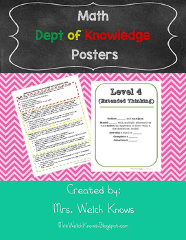 DOK Posters for Math