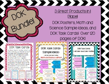 DOK Task Cards, Posters,Idea Starters  BUNDLE 3 Products i